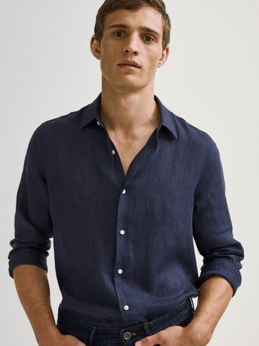 100% LINEN SLIM FIT SHIRT