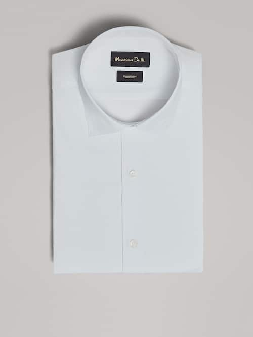 마시모두띠 Massimo Dutti PLAIN SLIM FIT SHIRT,WHITE