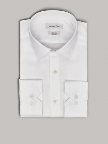 قميص سادة سهل الكي سليم فيت