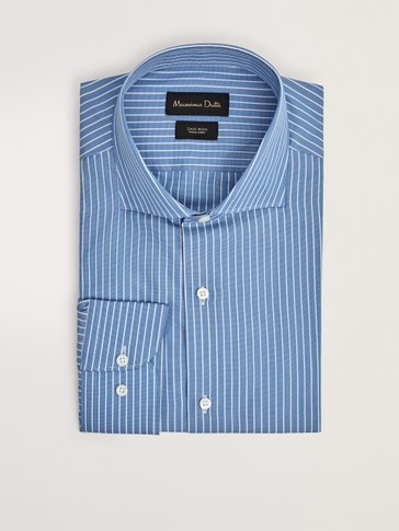 TAILORED FIT EASY IRON STRIPED SHIRT