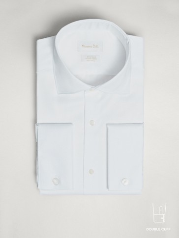 TAILORED FIT EASY IRON HERRINGBONE SHIRT