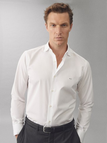 CAMISA TAILORED FIT POPELÍN LISA EASY IRON