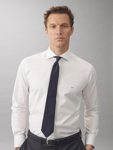 CAMISA SARGA ALGODÓN SLIM FIT EASY IRON