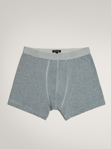 MICRO-STRIPED COTTON BOXERS