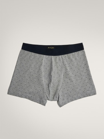 COTTON BOXER SHORTS WITH STAR PRINT