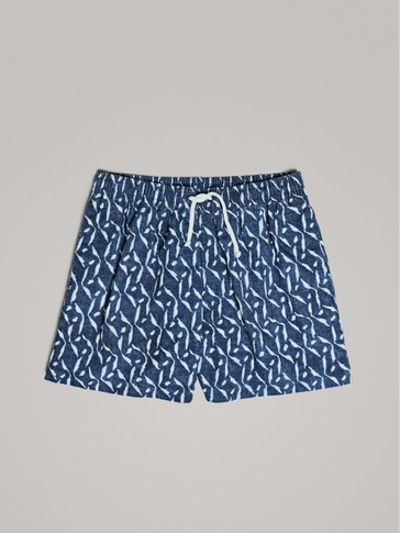 PIGMENT PRINT SWIMMING TRUNKS