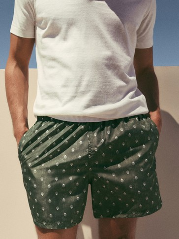 PRINT SWIMMING TRUNKS