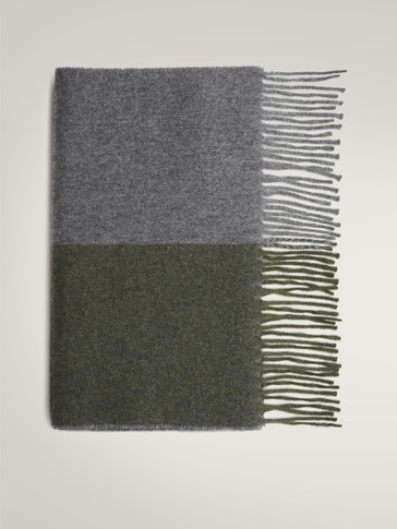 100% WOOL TWO-TONE SCARF