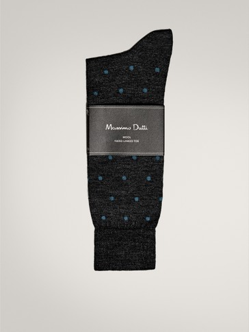 POLKA DOT WOOL SOCKS