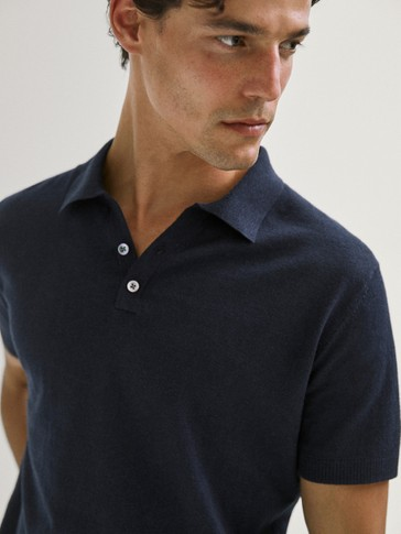 LIMITED EDITION COTTON LINEN POLO SWEATER