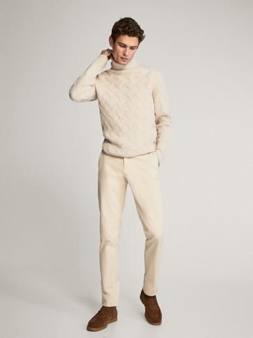 하이 넥 울 스웨터