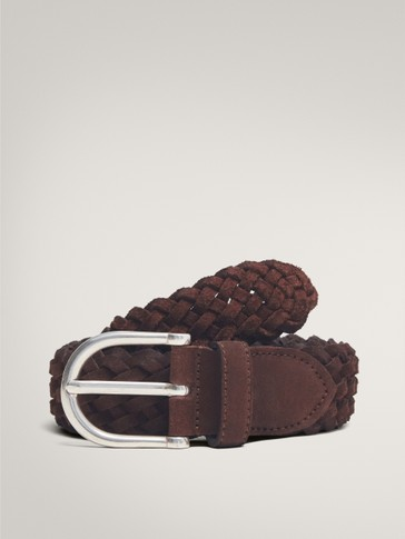 BRAIDED SPLIT SUEDE BELT