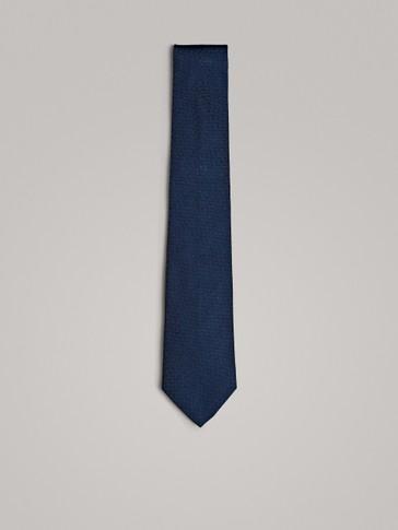 ربطة عنق من الحرير 100% بقماش الهرينغبون