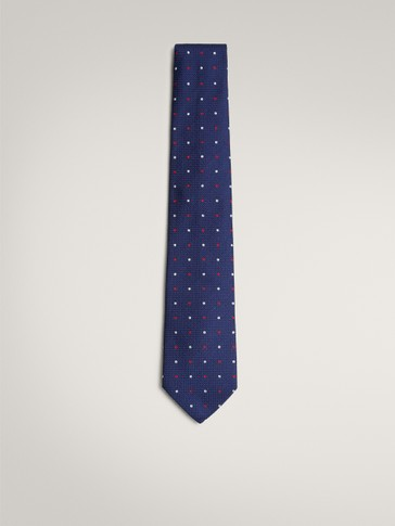 100% SILK TWO-TONE POLKA-DOT TIE