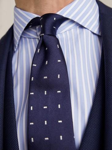 ربطة عنق مرقطة من الحرير 100%  بلون مزدوج