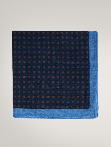 100% WOOL POLKA DOT POCKET SQUARE