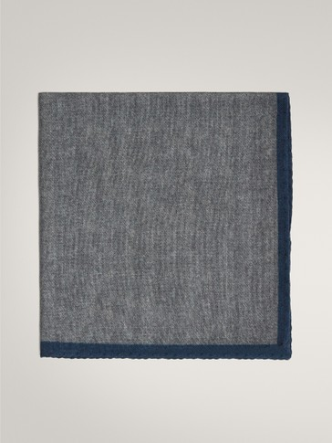 WOOL AND SILK CONTRAST POCKET SQUARE