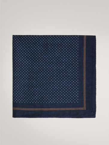 SMART POLKA DOT 100% SILK POCKET SQUARE