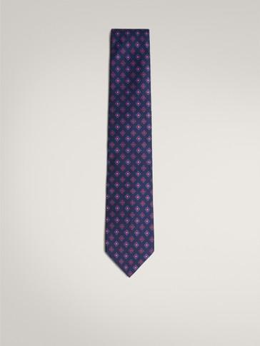 ربطة عنق من الحرير 100% بطبعة الأزهار