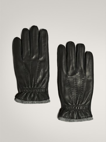 LEATHER/WOOL GLOVES
