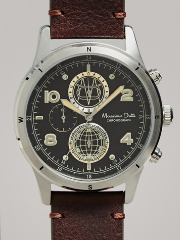 BLACK CHRONO WATCH
