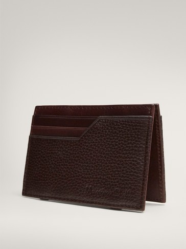 EMBOSSED NAPPA LEATHER CARD HOLDER