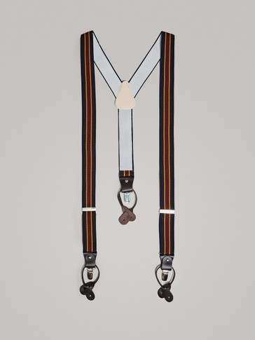 BRACES WITH CENTRAL STRIPE