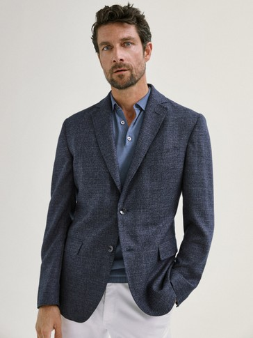 SLIM FIT WOOL BLAZER