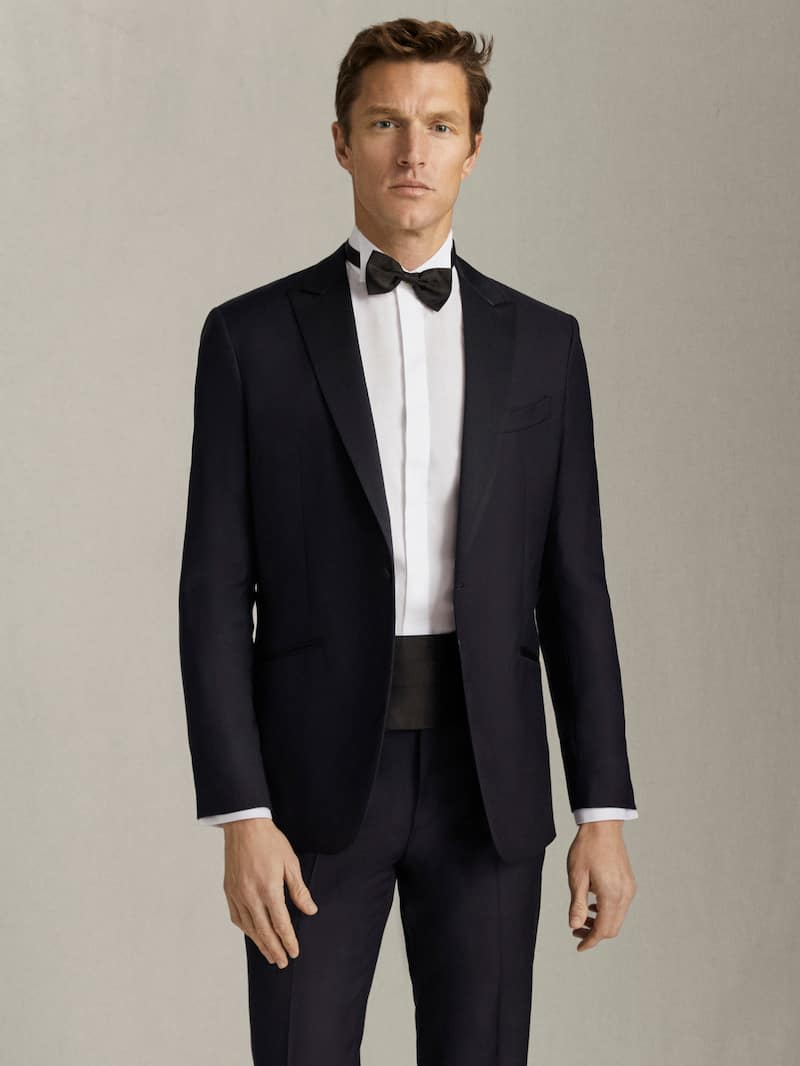 SLIM FIT TEXTURED TUXEDO JACKET - Men - Massimo Dutti