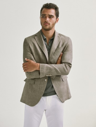 SLIM FIT 100% LINEN BLAZER