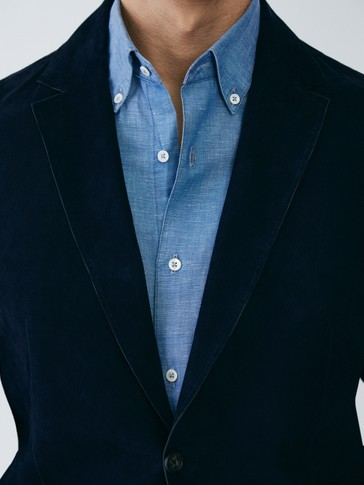 SLIM FIT SUEDE BLAZER