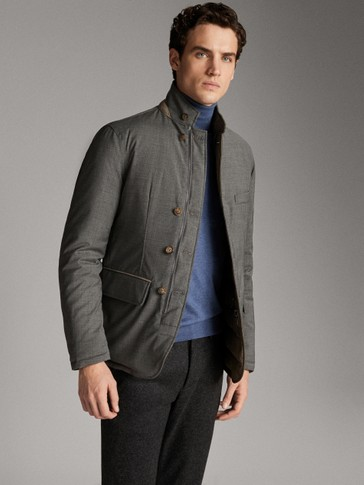 REVERSIBLE WOOL TECHNICAL BLAZER