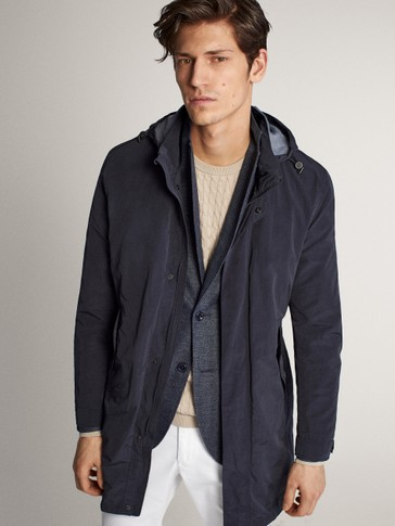 Navy trench jacket