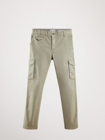 CASUAL FIT CARGO TROUSERS