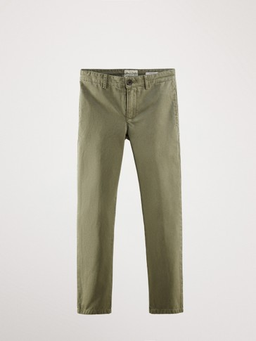 CASUAL FIT FADED TROUSERS