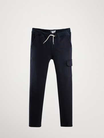 NAVY BLUE JOGGING CARGO TROUSERS