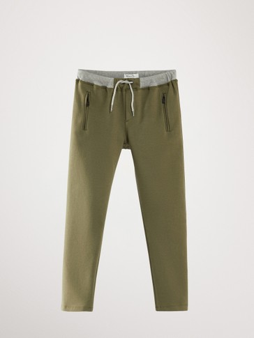 JOGGING FIT TROUSERS WITH ZIPS
