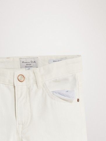 REGULAR FIT WHITE JEANS