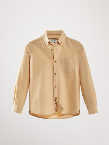 PLAIN COTTON SHIRT WITH POCKET