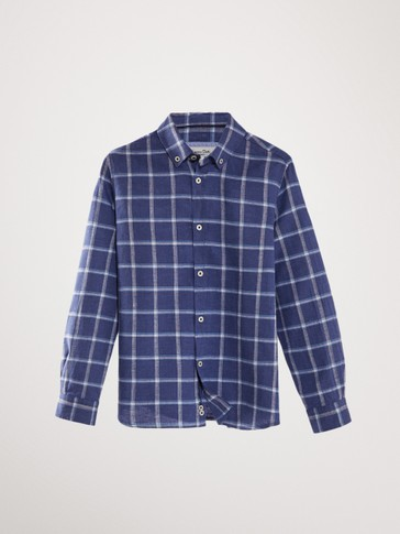 CHECK LINEN COTTON SHIRT