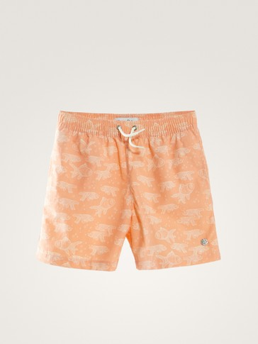 FISH PRINT SWIMMING TRUNKS