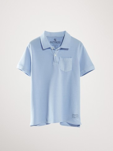 SHORT SLEEVE COTTON POLO SHIRT WITH POCKET