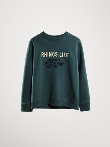 'RHINOS LIFE' COTTON SWEATSHIRT
