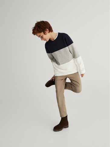 THREE-TONE COTTON SWEATSHIRT