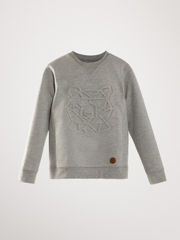 COTTON 3D BEAR SWEATSHIRT