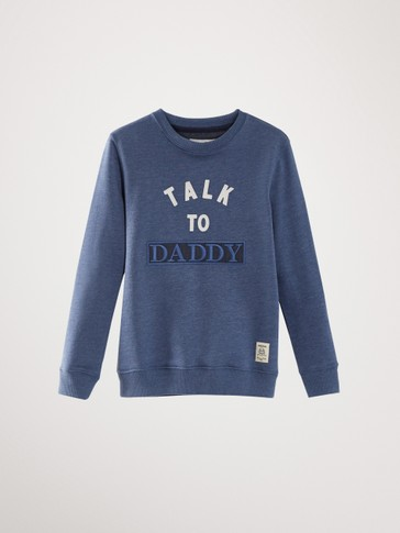 'TALK TO DADDY' COTTON SWEATSHIRT