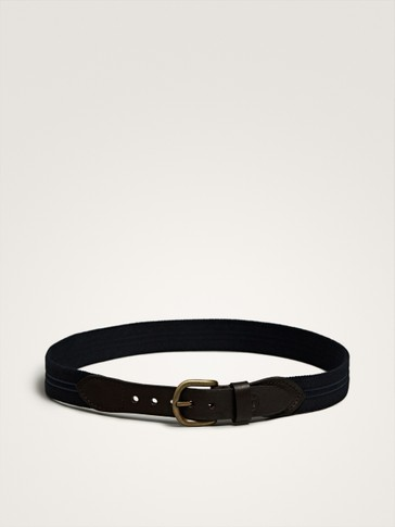 NAVY BLUE ELASTICATED BELT