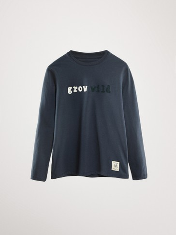'GROW WILD' COTTON LONG SLEEVE T-SHIRT