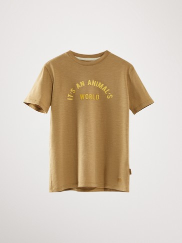 IT'S AN ANIMAL'S WORLD COTTON T-SHIRT