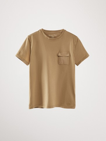 FADED T-SHIRT WITH POCKET